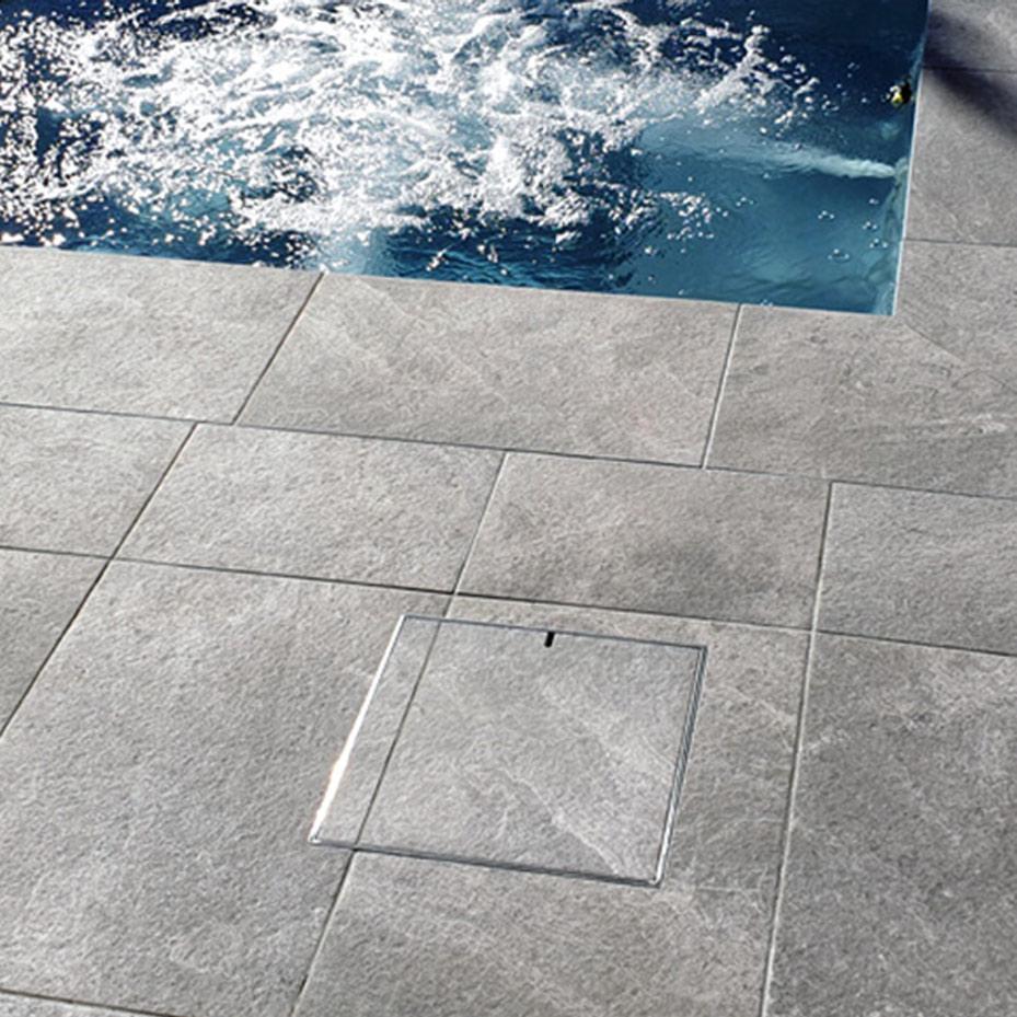stainless steel pool skimmer lid