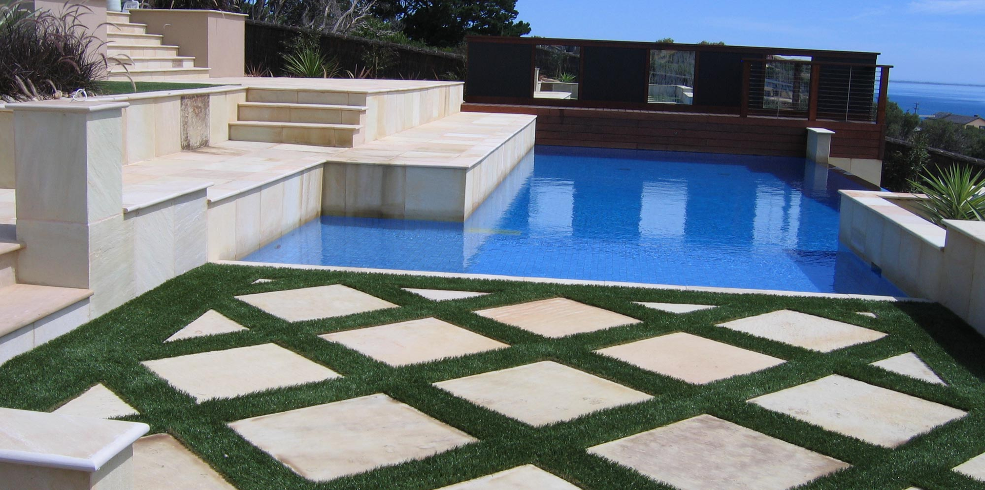 indian sandstone swimming pool copings