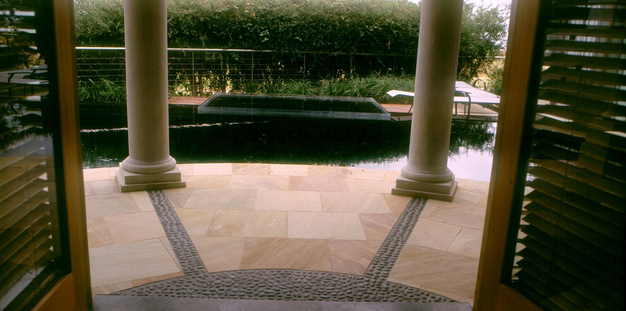indian sandstone outdoor paving