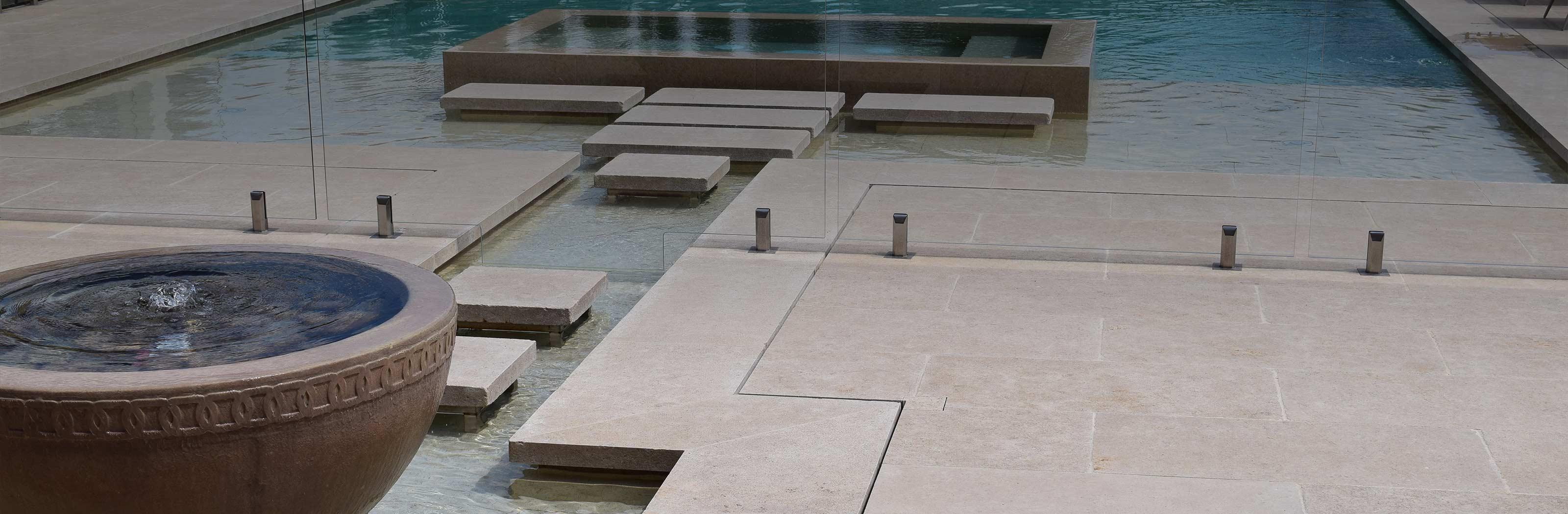 french pattern limestone pavers