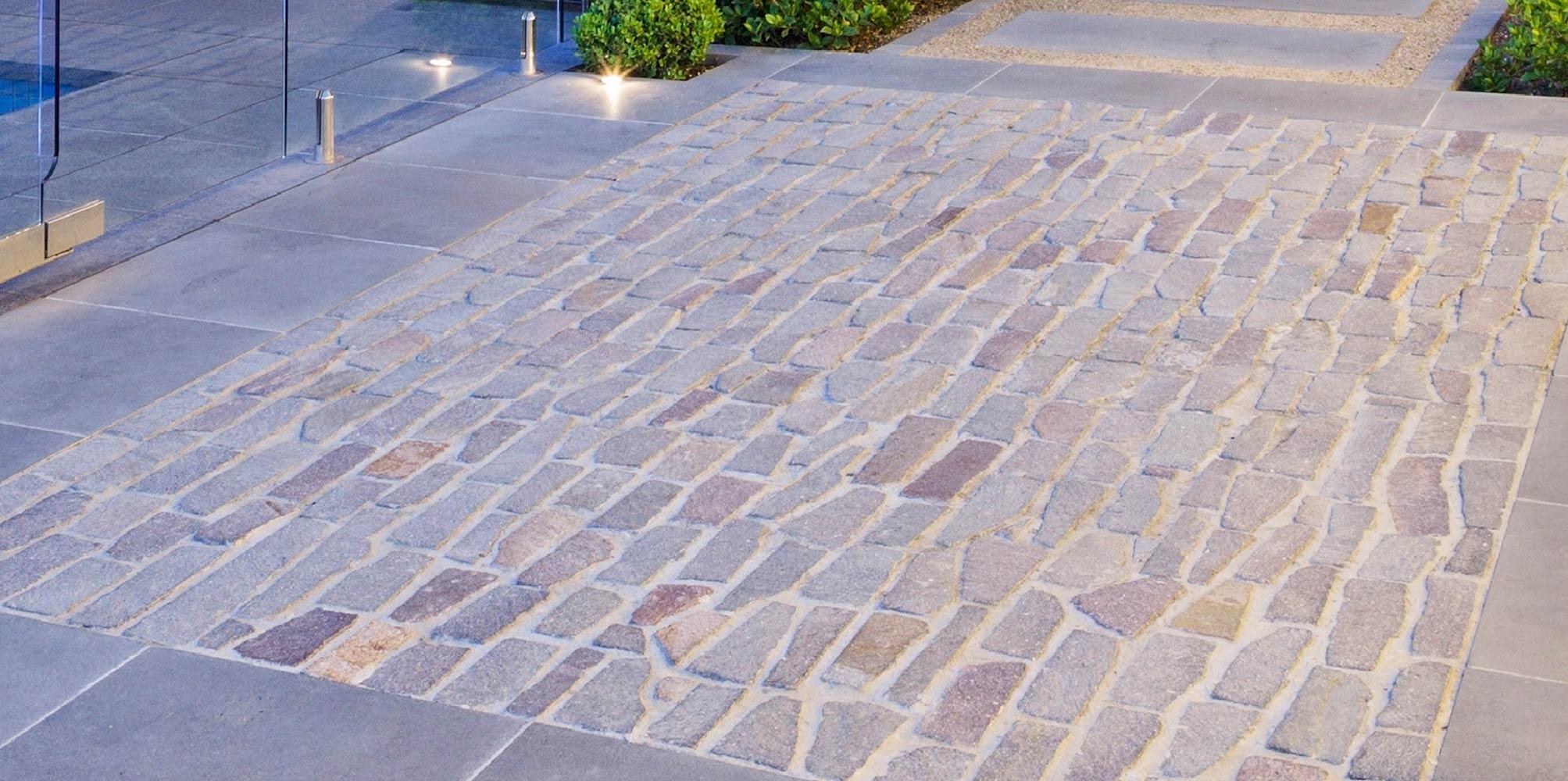 porphyry stone paving
