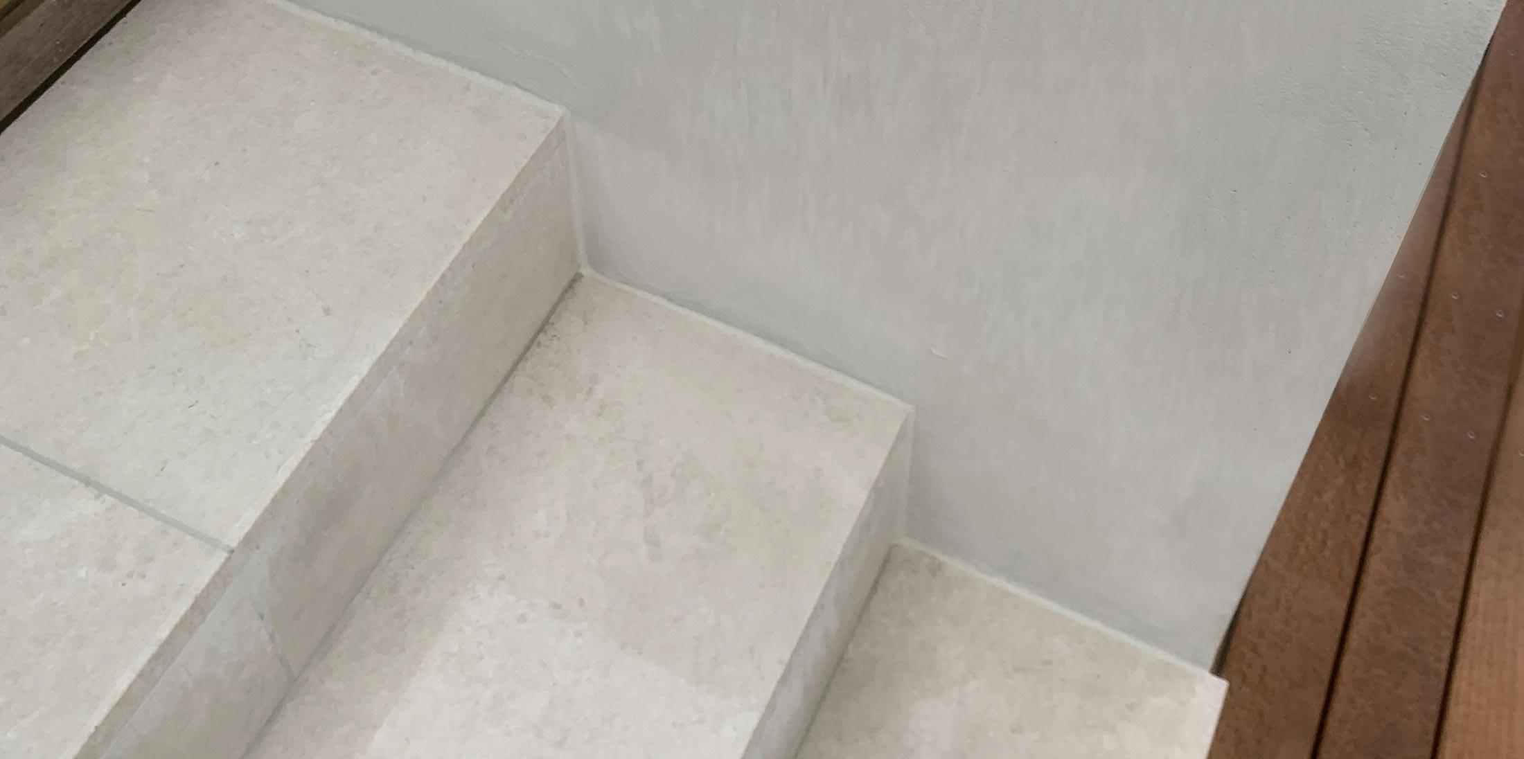 brushed limestone floor tiles